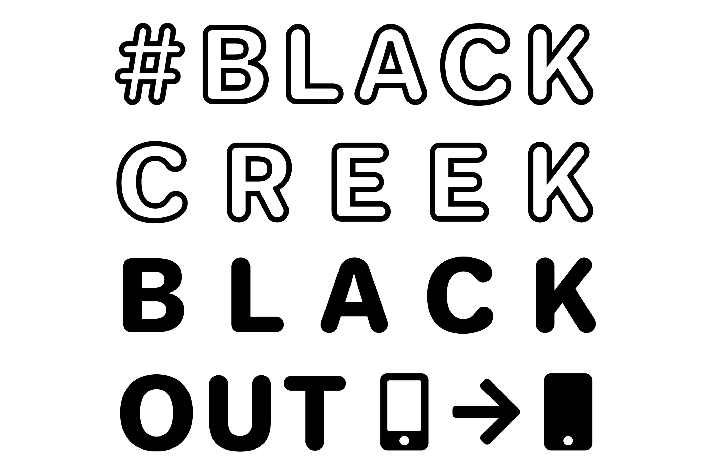 #blackcreekblackout