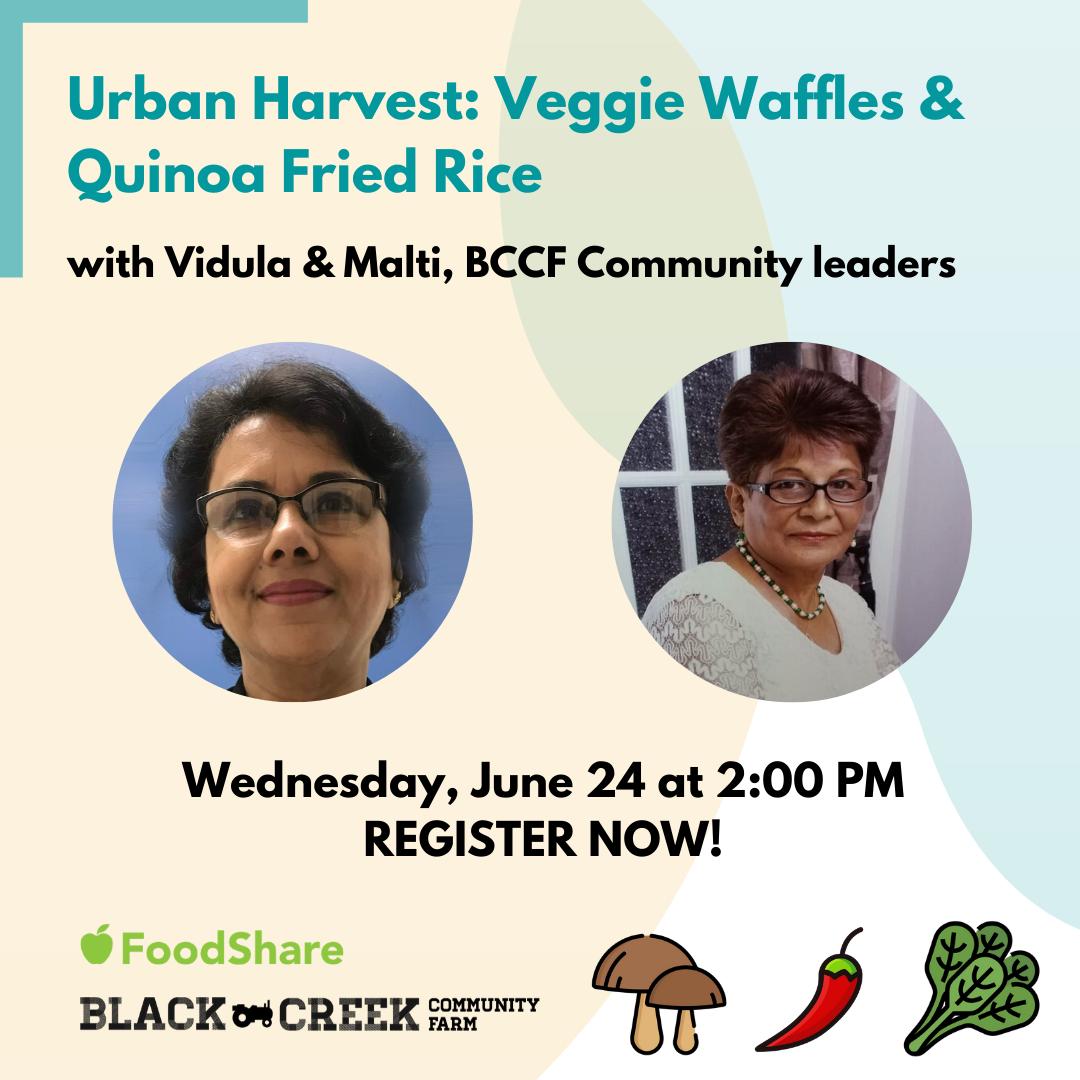Urban Harvest workshop June 24th 2020, registration